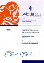 Wyniki muzealnej nagrody Sybilla 2011